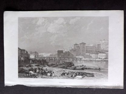 Roscoe 1834 Antique Print. Lyons, France